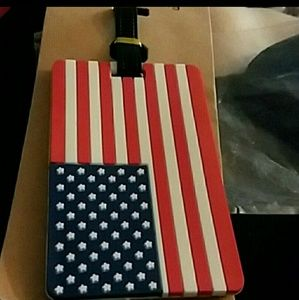 🇺🇸Lot of 3 American Flag Luggage Tags🇺🇸